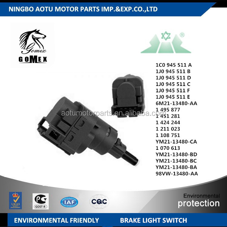 1C0945511 A 1J0945511B 1J0945511D 1J0945511C 1J0945511F 1J0945511E 6M21-13480-AA auto brake light switch for audi