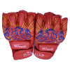 MMA boxing equipment PU red boxing half fingers gloves training mitt