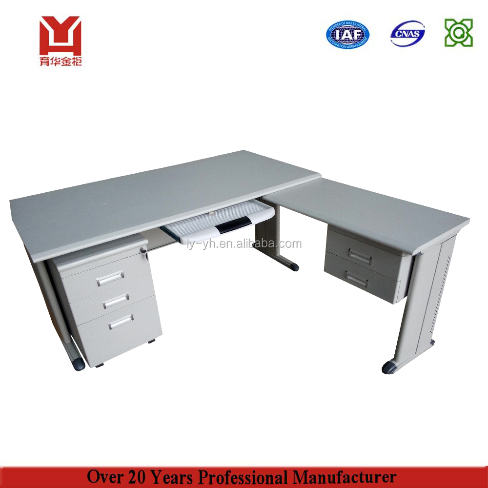 Modular Office Furniture For L Shape Steel Table Metal Work Desk Design