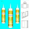 One-component Fast-Drying Acidic general purpose Silicone Sealant for doors windows glass assembling