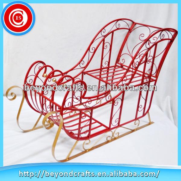Newest Outdoor Red Metal Christmas Sleigh - Buy Christmas Sleigh ...