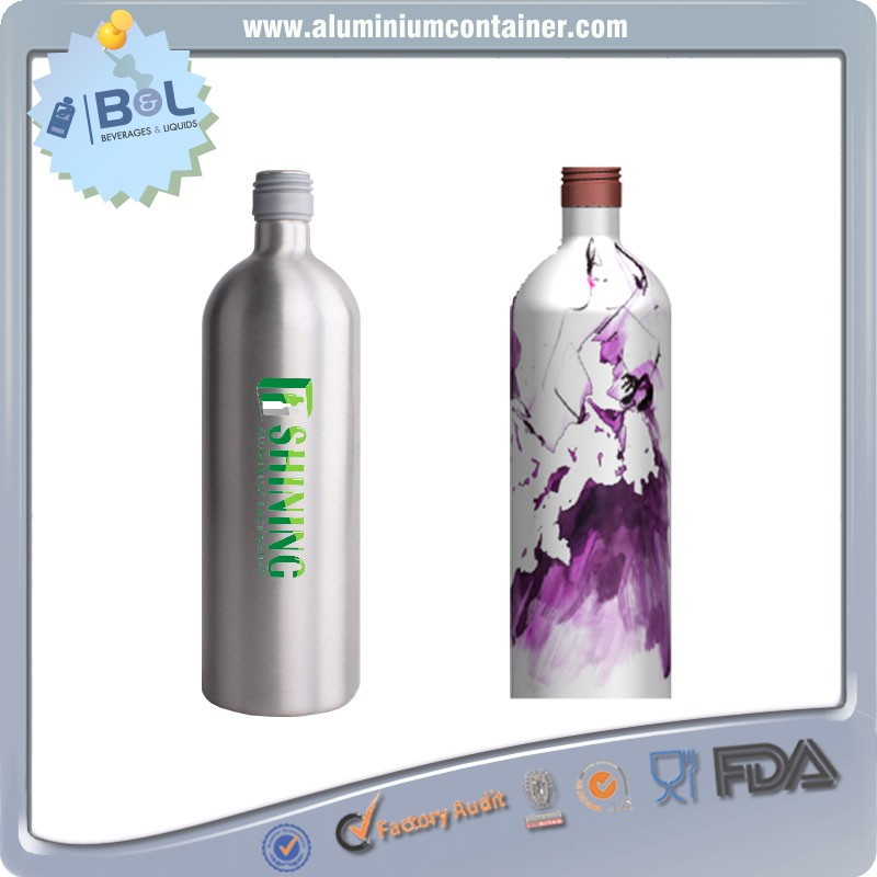 premium claret 500 ml aluminum wine bottle & wine aluminum 750ml