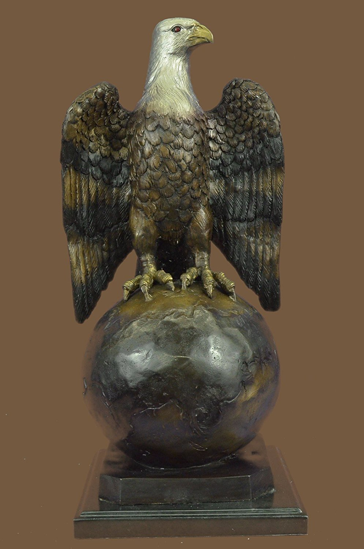 ...Handmade...European Bronze Sculpture Collector Edition American Eagle Hawk Falcon Art (1X-89070M) Bronze Sculpture Statues Figurine Nude Office & Home Décor Collectibles Sale Deal Gifts