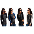 hot sale Spring Autumn Women s Casual Sweatshirts Full Sleeve Pullovers O Neck Street Splicing Style
