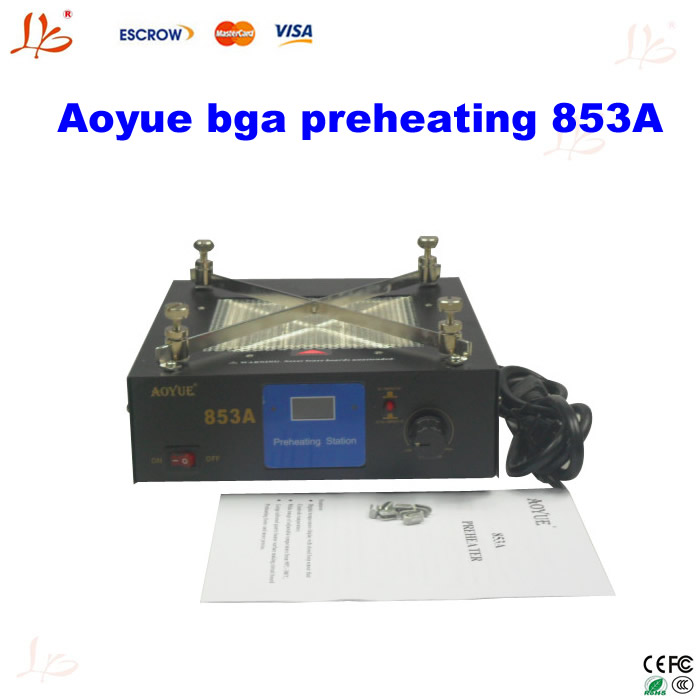 High cost-effective Aoyue BGA Rework Station 853A preheater preheating machine for PCB, Upgraded from aoyue 853 bga preheater