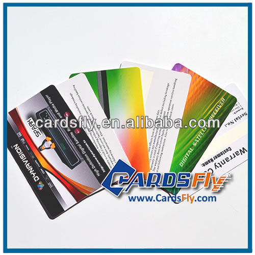 Plastic Warranty Card Samples