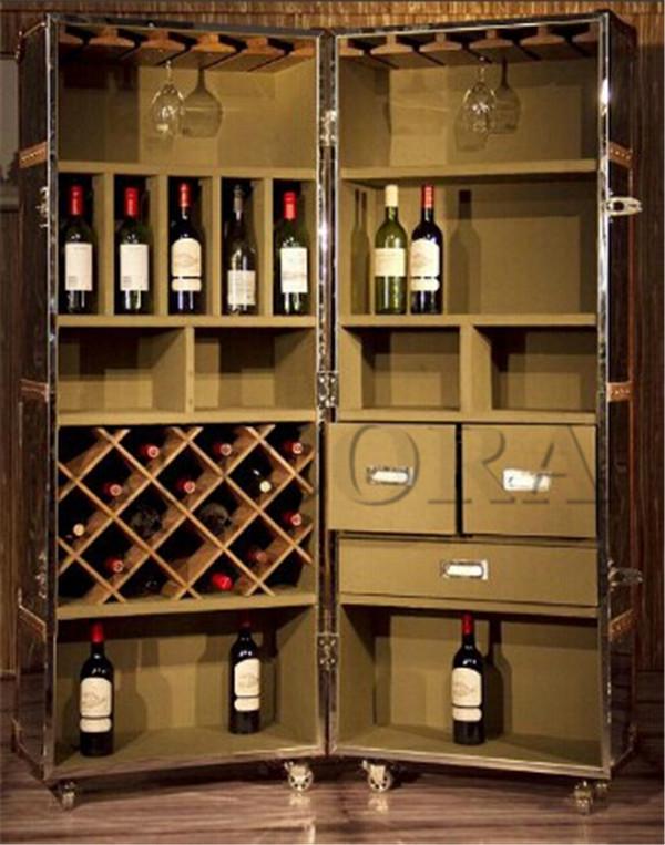 Industrial Living Room Furniture Wine Cabinet L887 - Buy Antique ...
