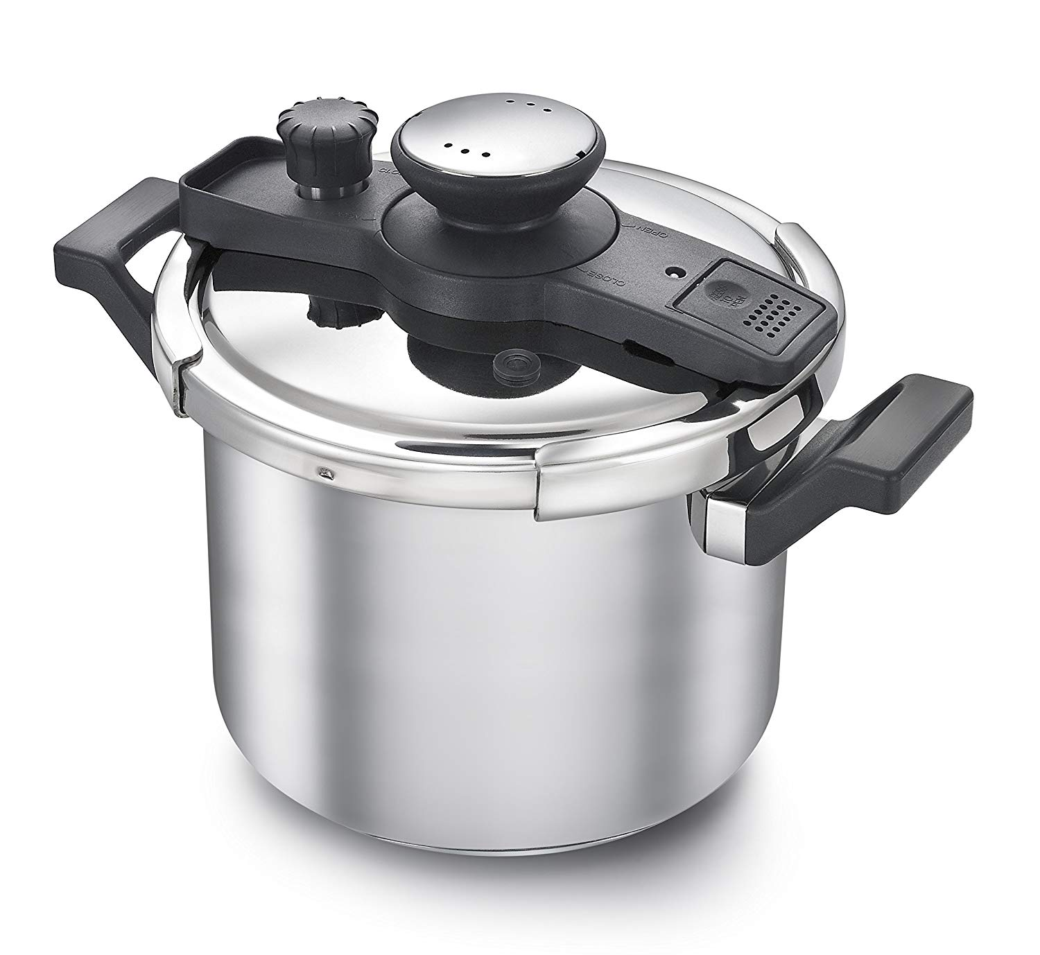 7371e8fa1cf Get Quotations · Prestige Clip-on Pressure Cooker Stainless Steel Cook And  Serve Pot