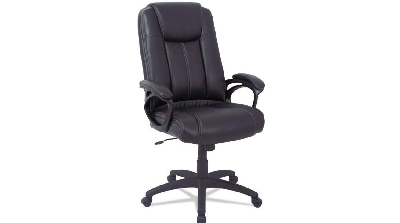 Leather High Back Chair Alera CC Series Executive Black K&A Company