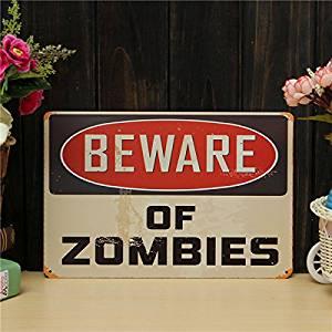 [Free Shipping] Zombies Sheet Metal Drawing Metal Painting Vintage Tin Wall Home Poster Sign // Zombies del metal de hoja dibujo pintura metal pared lata vintage cartel casa muestra