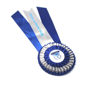 Handmade Blue Gift Ribbon Satin Ribbon Rose Horse Rosettes