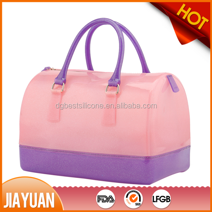 Factory price glitter silicone jelly bag