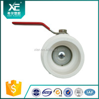 High Quality Plastic PVC 2 Way Two Pieces Ball Valve for irrigation system