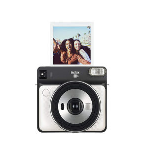 compact size fujifilm instax fun instant digital camera SQ6 instax mini film camera white
