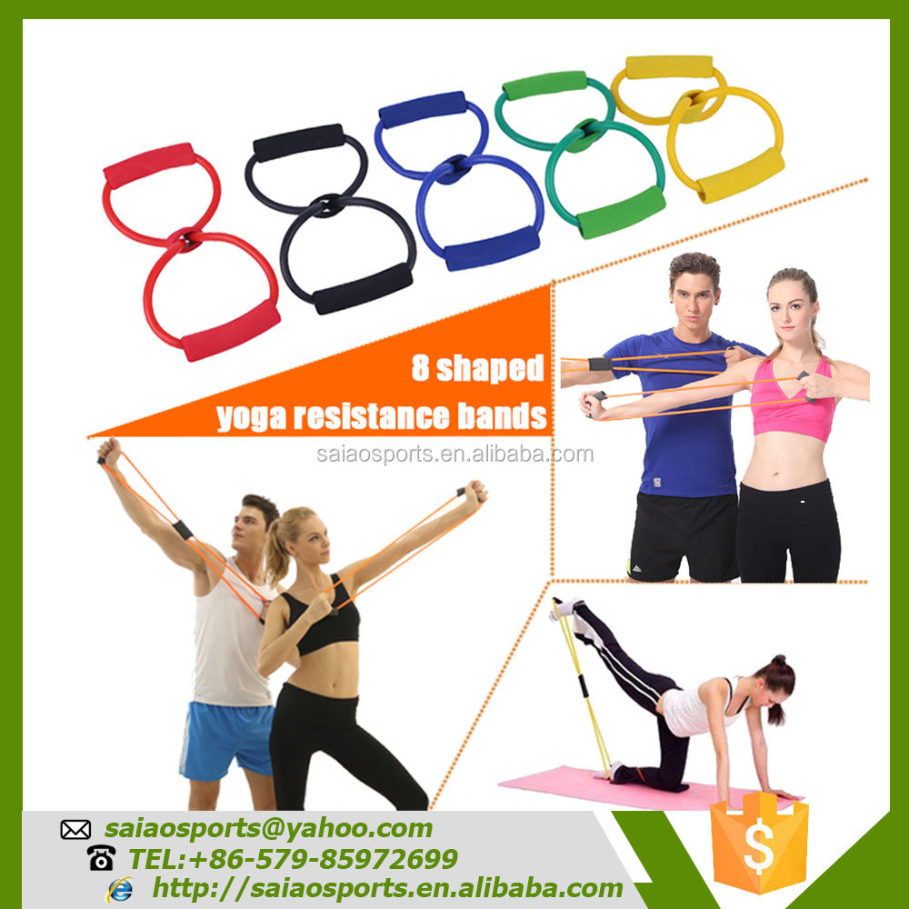 Personal Fittness And Exercise Equipment 8 Shaped Resistance Bands Circuit Training With Ropes Yoga Buy Bandspersonal Workout Productyoga Product On