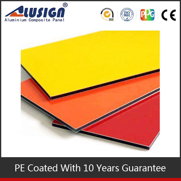 Alusign high grade furnishing coating evenness external wall aluminum composite panel