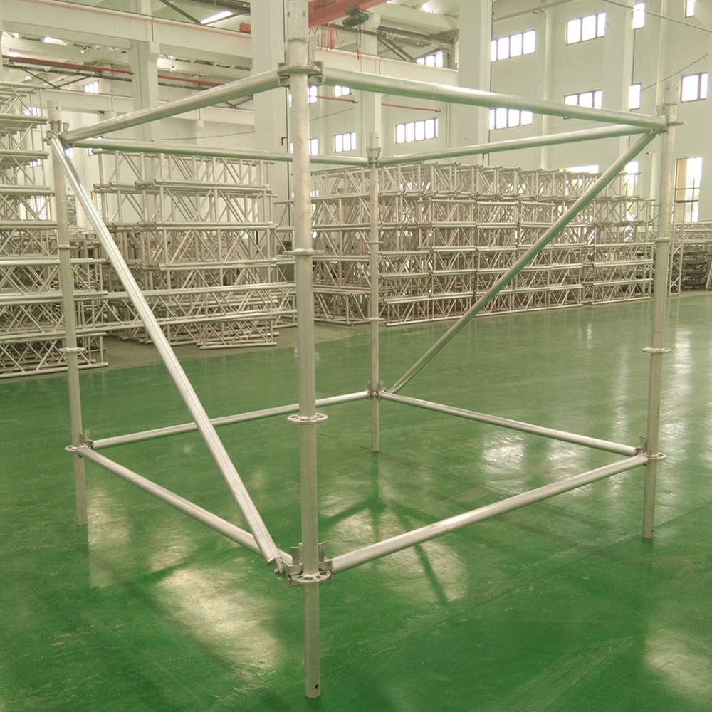 Aluminum layer speaker scaffolding used in concert
