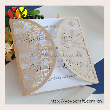 Inc124 Engraved Wedding Card Just Married Invitation Printing