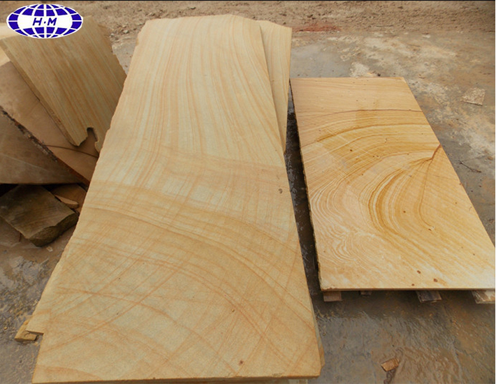 Austrial yellow wooden vein sandstone