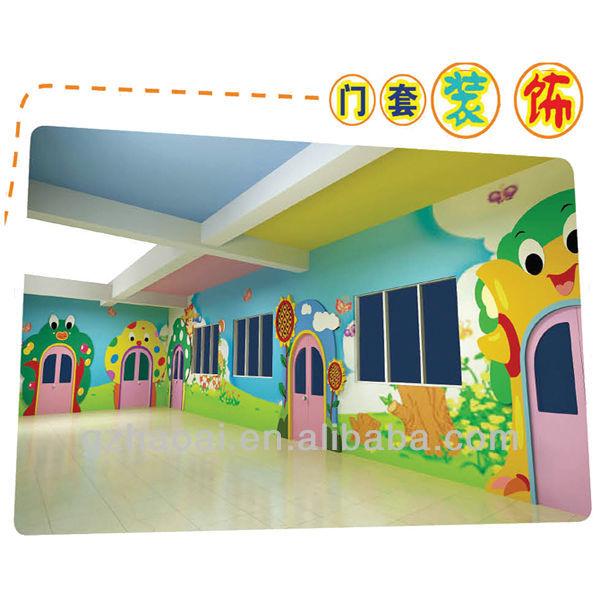 Kinder a,10305 2013 nuevo diseño colorido pared decoracion