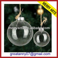2016 new christmas decoration clear acrylic transparent christmas balls cheap wholesale christmas baubles