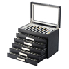 Large Capacity 60 Slots Wooden Pen Box for Pen Collector