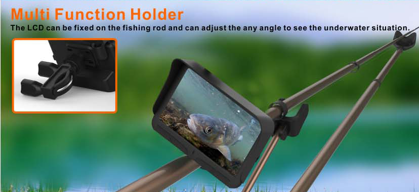 "4.3 ""monitor fish finder gps ใต้น้ำ ultrasonic transducer"