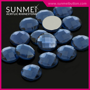 Eco-friendly Round Shape 30mm Flatback Acrylic Rhinestones Accessories For Shoes