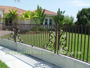 Vintage Wrought Iron Garden Fence