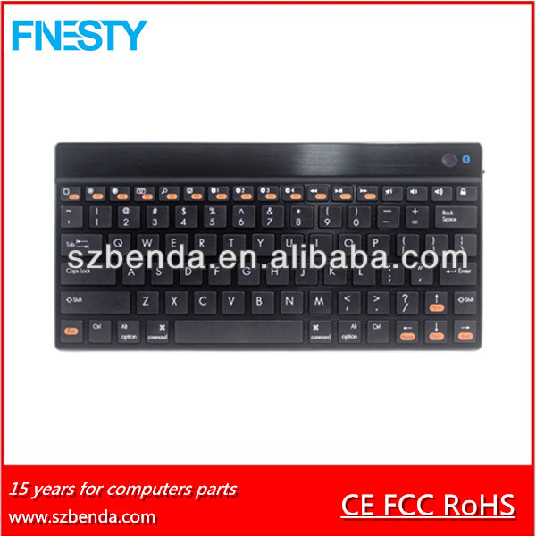 Aluminum mini 9.7 inch Bluetooth Keyboard for smartpone