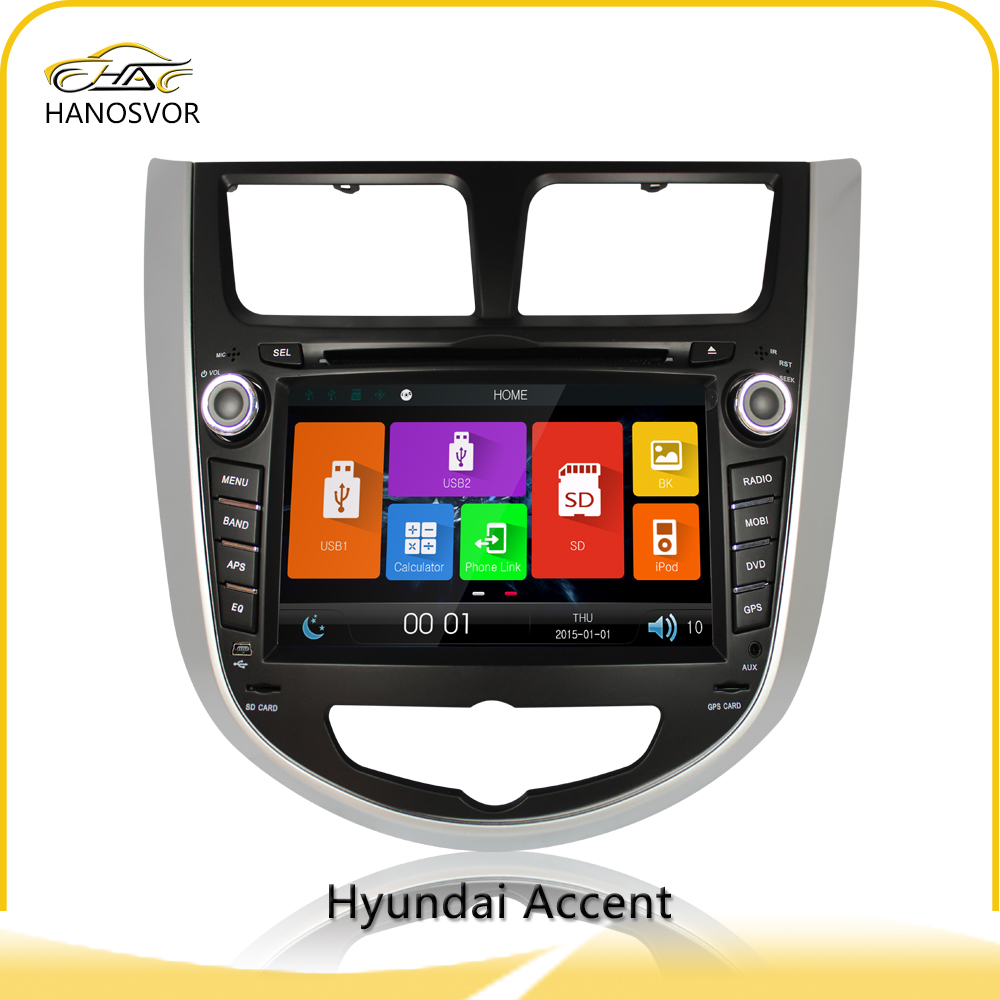 For hyundai accent car dvd player autoradio dvd 2 din made in china gps navigation