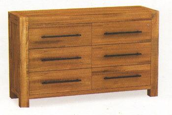 Chest 6 Drawer Acacia Furniture