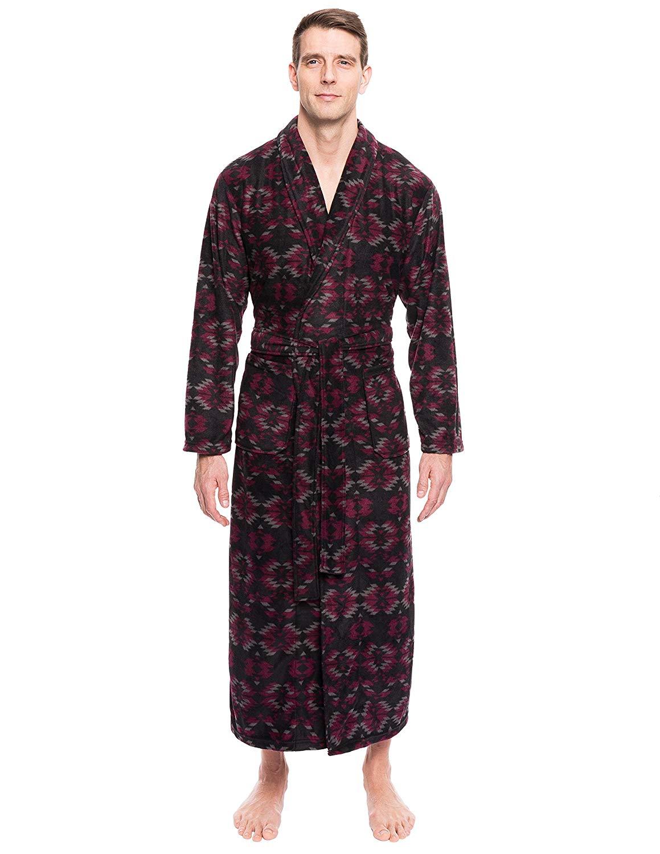 f52baafc31 Get Quotations · Noble Mount Men s Premium Microfleece Long Robe