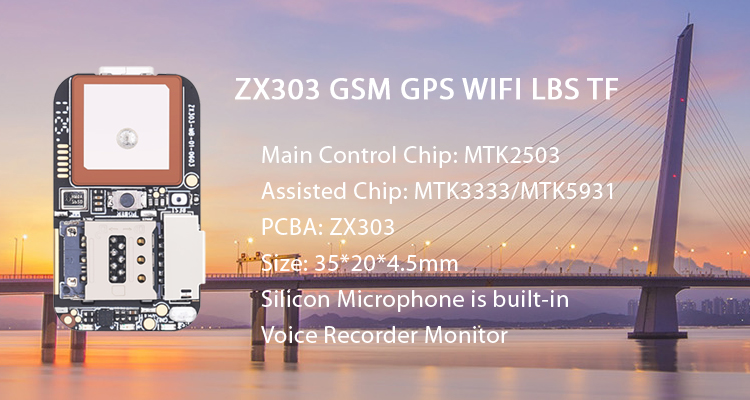 GPS GSM Wifi LBS Locator PCBA Module ZX303 Mini GPS Tracker with SOS Alarm Real-Time Web APP Tracking TF Card Voice Recorder