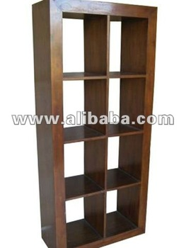 Open Display Cabinet With Shelves