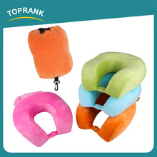 Toprank Amazon Hot Car Airplane Office Nap Comfy Neck Support Inflatable Pillow Travel Camping Foldable Memory Foam Pillow