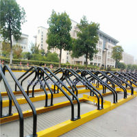 strong and durable surface mount surface mounted tandem cycle racks