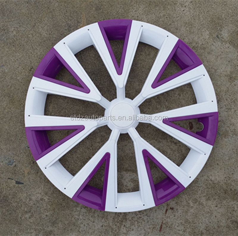 abs de haute qualit 14 polegada blanc violet couvercle de roue de couleur enjoliveur de roue. Black Bedroom Furniture Sets. Home Design Ideas