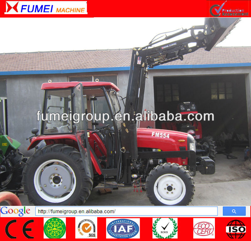 55hp tractor with front end loader and backhoe