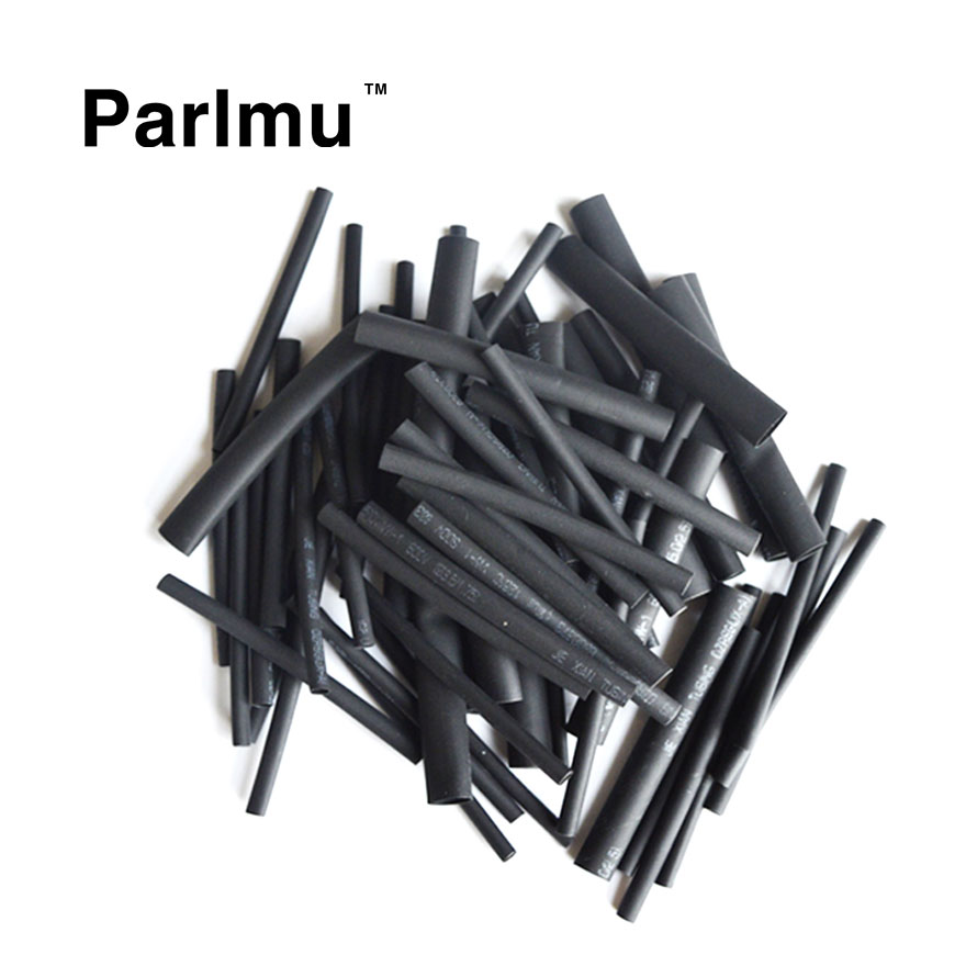 150pcs 2:1 Black Wire Wrap Electrical Insulation Cable Sleeving