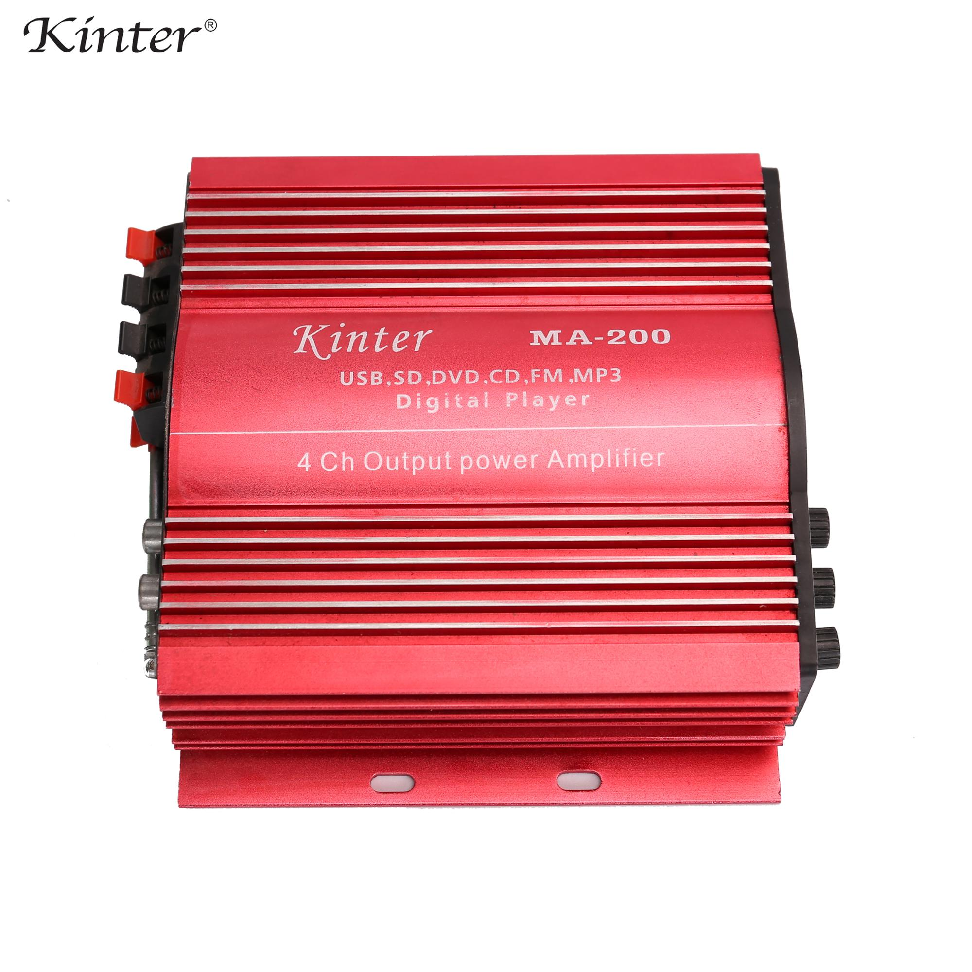 12v Mini Car Amplifier Kinter Ma 200 With Usd Sd Fm Mp3 4 Channel Best Usb And Radio Pink Form A Complete Set