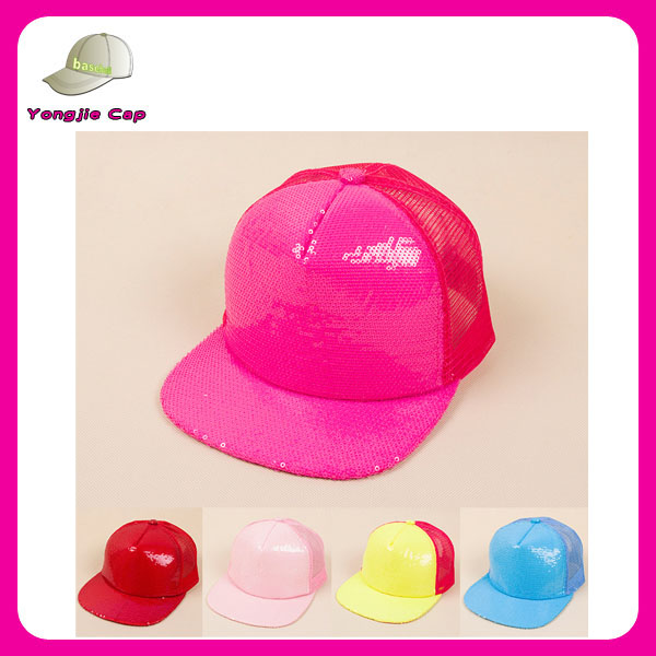 Top quality Good shaped wholesale 6 Panel Neon Color Flat Bill Blank/Plain Snapback Hats