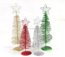 unid mini glitter alambre de hierro pequeo rbol de navidad de mesa mobiliario ventana suministros