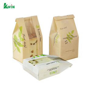 Reusable Colored Fold Top Ziplock Paper Sandwich Packaging Bag For Ldpe Plastic Window