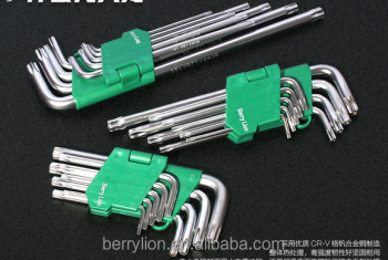 Berrylion Étoile Clé Hexagonale Ensemble Moyen Long CR-V 9 pcs Étoile Clé Hexagonale