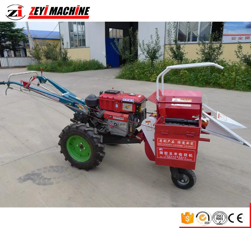 Hot Sale Walking Tractor Mini Corn Harvester Maize Harvesting