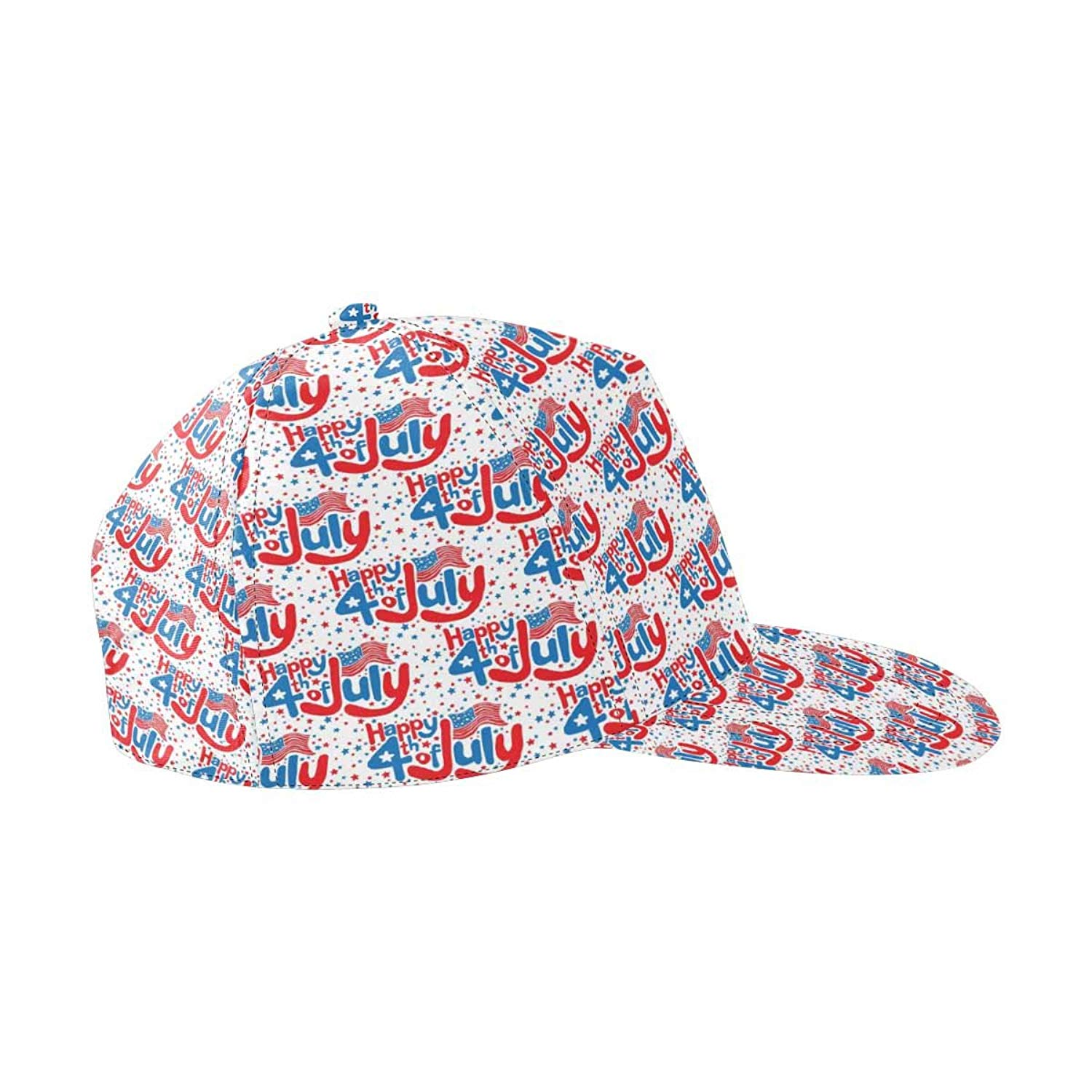 ec3f5fb5985b3 Get Quotations · InterestPrint 4th July, Independence Day of America Snapback  Hats for Men Hip Hop Hats Flat