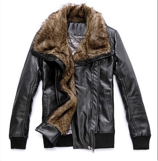 Fashion! Best selling winter warm motorcycle Leather