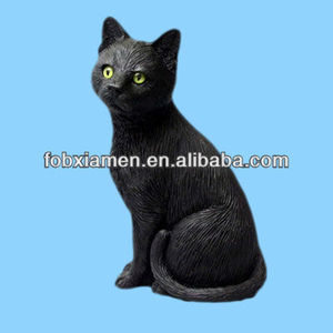 Home decor polyresin custom made resin cat figurine