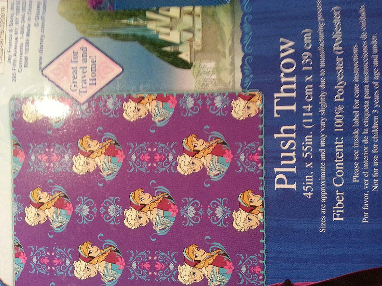 Disney Frozen Plush Throw Children's Anna Elsa Baby Toddler Blanket